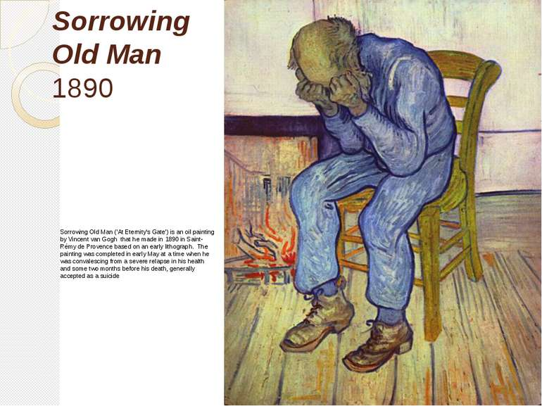 Sorrowing Old Man 1890 Sorrowing Old Man ('At Eternity's Gate') is an oil pai...