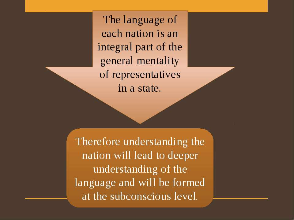 The language of each nation is an integral part of the general mentality of r...