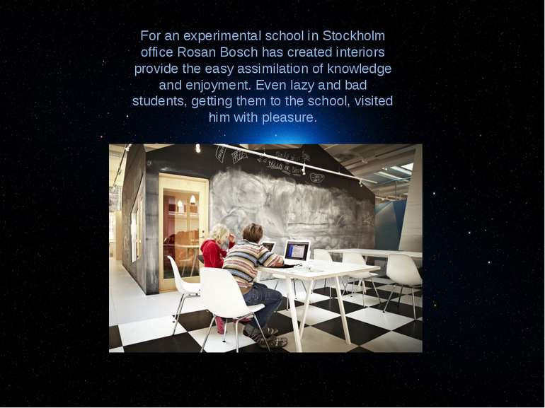 For an experimental school in Stockholm office Rosan Bosch has created interi...