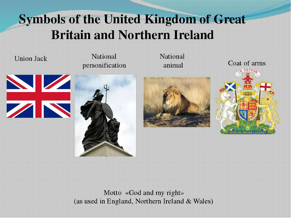 Symbols of the United Kingdom of Great Britain and Northern Ireland Union Jac...