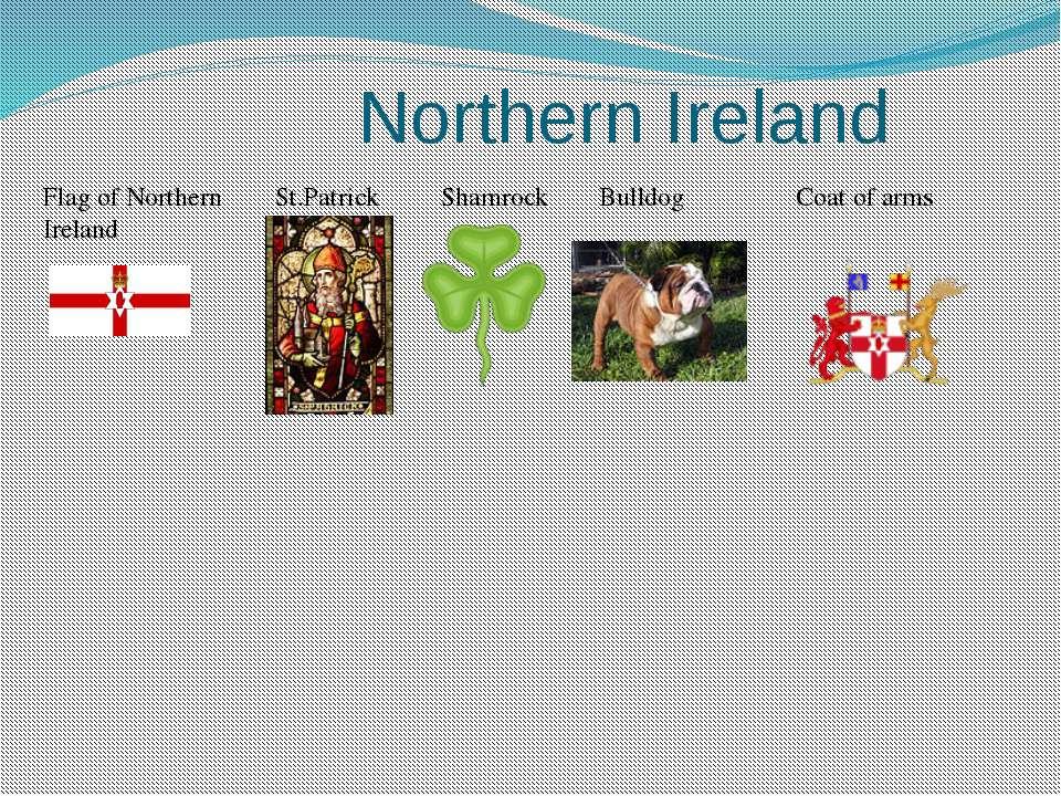 Northern Ireland Flag of Northern Ireland St.Patrick Shamrock Bulldog Coat of...