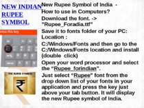 NEW INDIAN RUPEE SYMBOL New Rupee Symbol of India - How to use in Computers?...