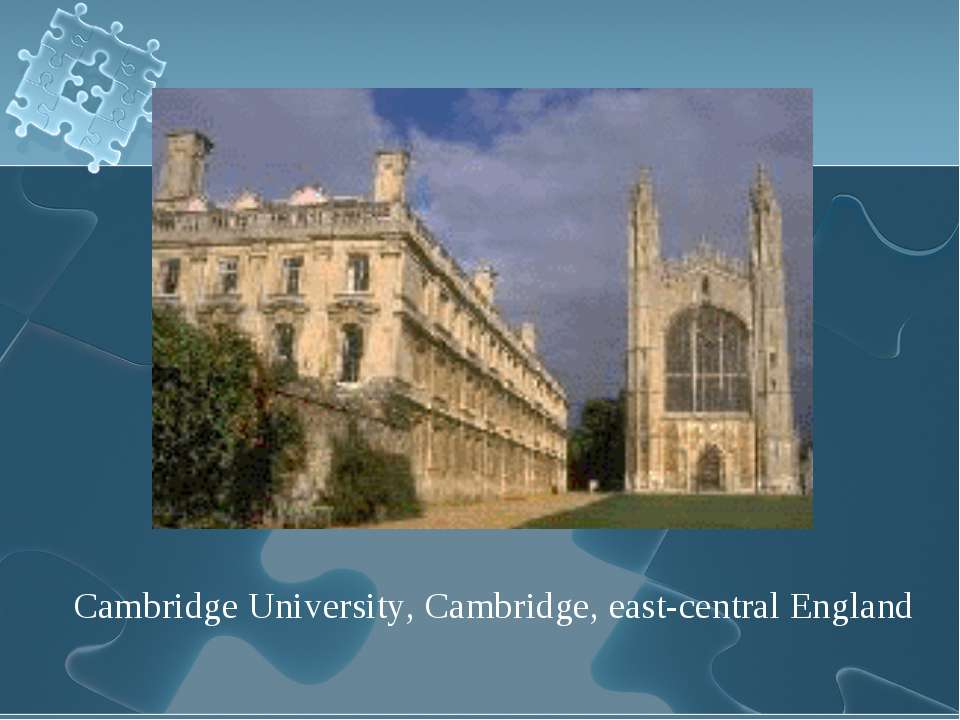Cambridge University, Cambridge, east-central England