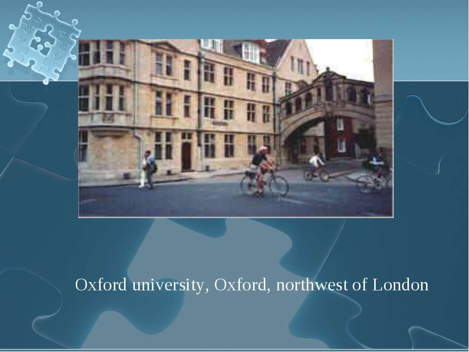 Oxford university, Oxford, northwest of London