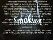 Estimates reflecting a more comprehensive representation of current smoking a...