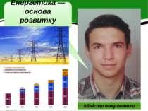 Міністр енергетики Енергетика — основа розвитку господарства.