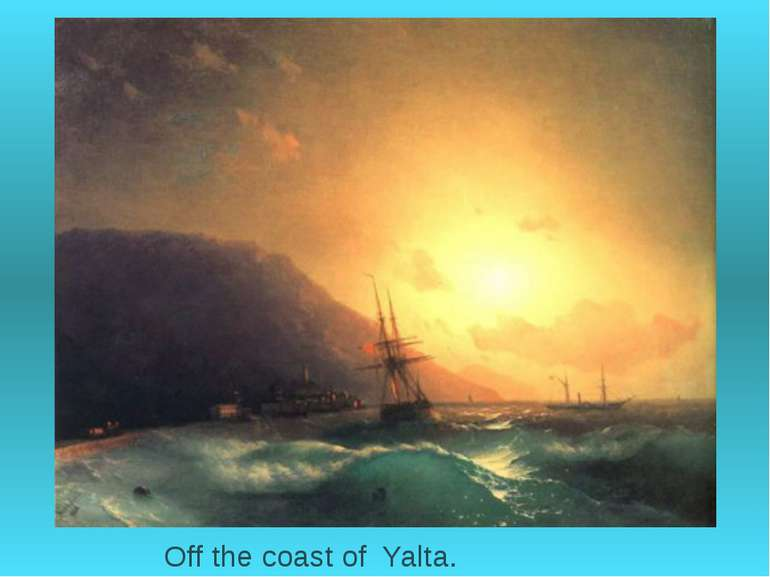 Off the coast of Yalta.