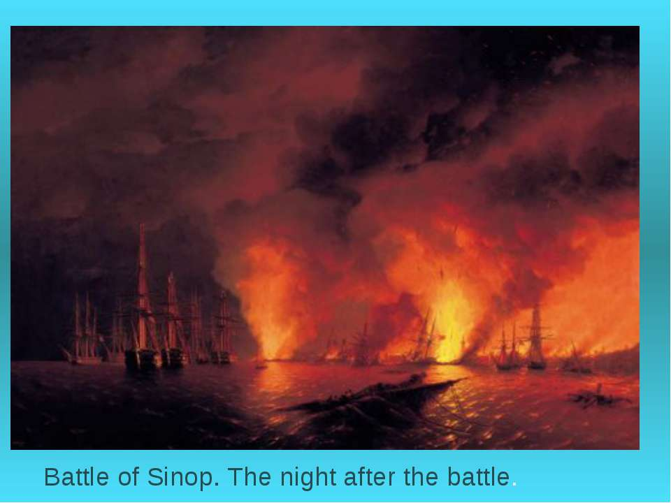 Battle of Sinop. The night after the battle.