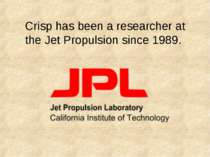 Crisp has been a researcher at the Jet Propulsion since 1989.