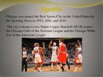 Chicago was named the Best Sports City in the United States by the Sporting N...