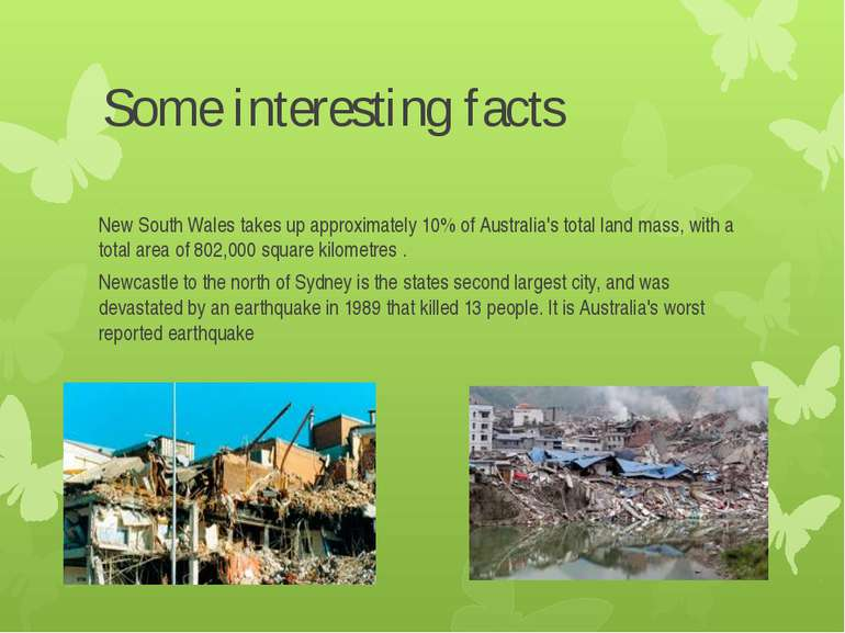 Some interesting facts New South Wales takes up approximately 10% of Australi...