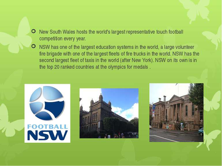 New South Wales hosts the world's largest representative touch football compe...