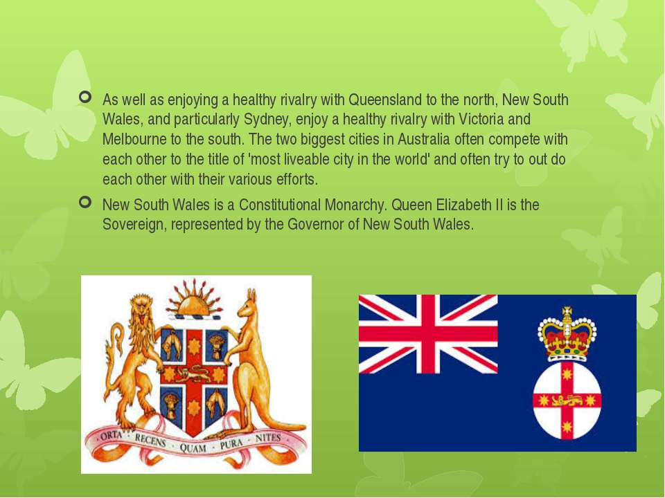 As well as enjoying a healthy rivalry with Queensland to the north, New South...
