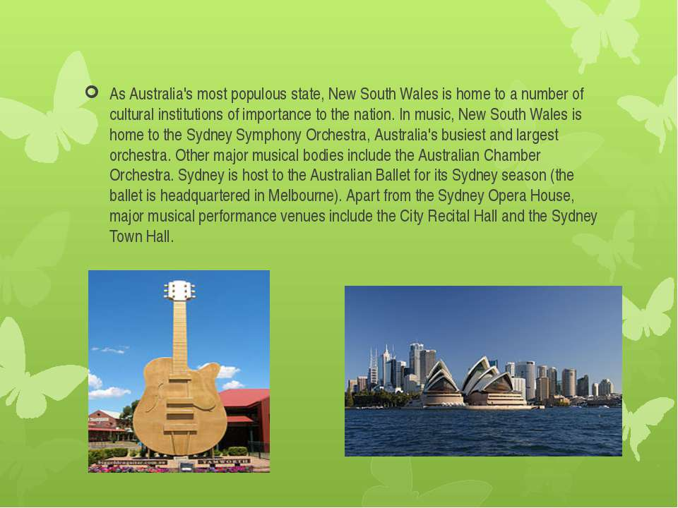 As Australia's most populous state, New South Wales is home to a number of cu...