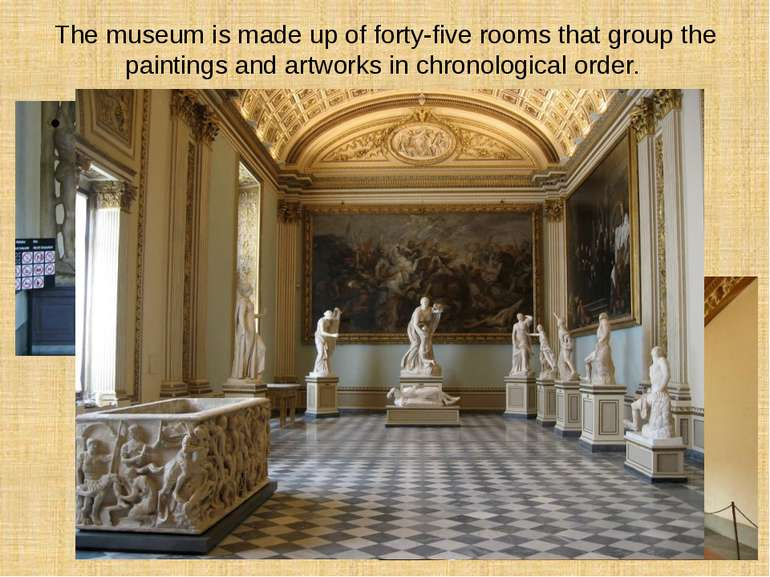 The museum is made up of forty-five rooms that group the paintings and artwor...