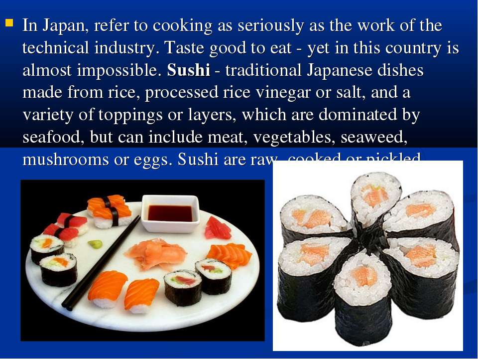 In Japan, refer to cooking as seriously as the work of the technical industry...