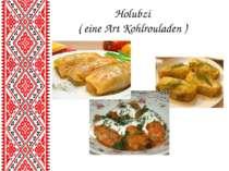 Holubzi ( eine Art Kohlrouladen )