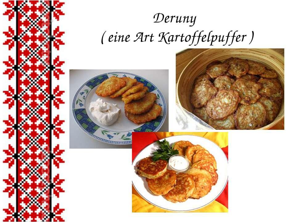 Deruny ( eine Art Kartoffelpuffer )