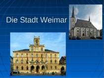 Die Stadt Weimar