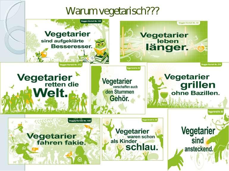 Warum vegetarisch???