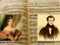 Johann Strauss (Vater) Da der Vater mit der Familie gebrochen hatte, musste e...
