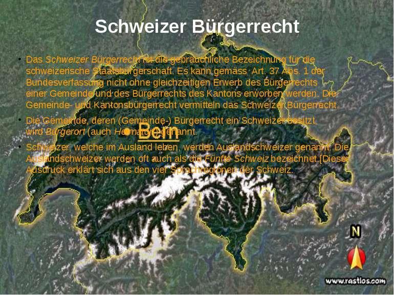 Schweizer Bürgerrecht DasSchweizer Bürgerrechtist die gebräuchliche Bezeich...