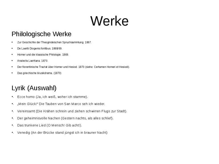 Werke Philologische Werke Zur Geschichte der Theognideischen Spruchsammlung. ...