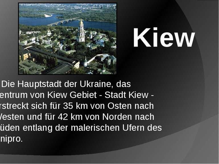 Die Hauptstadt der Ukraine, das Zentrum von Kiew Gebiet - Stadt Kiew - erstre...