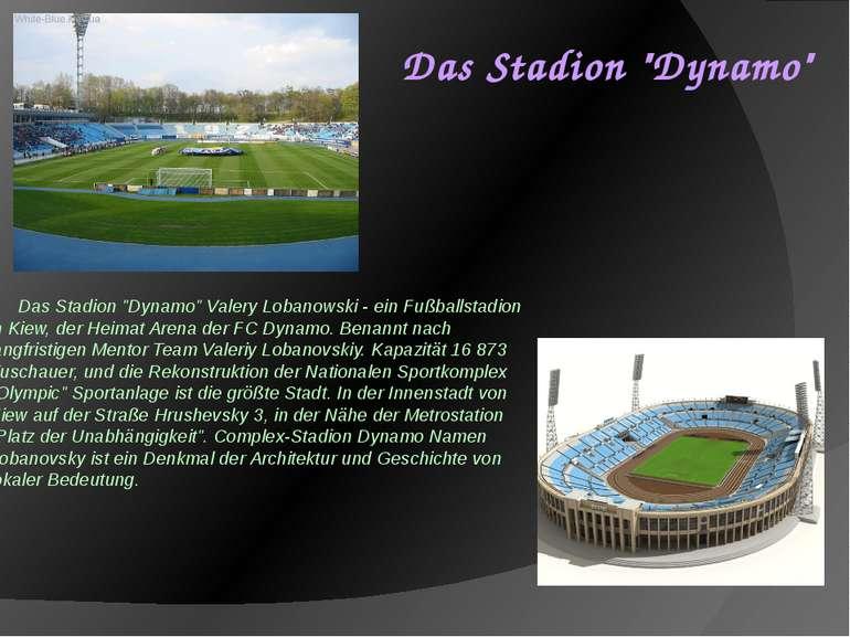 """Das Stadion """"Dynamo"""" Valery Lobanowski - ein Fußballstadion in Kiew, der Heim..."""
