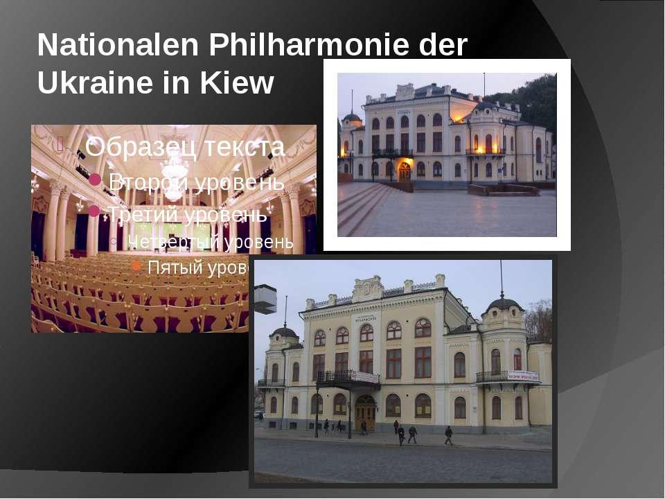 Nationalen Philharmonie der Ukraine in Kiew