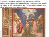 Epiphany - eine tolle Weihnachten und Neujahr Zyklus, orthodoxen und griechis...