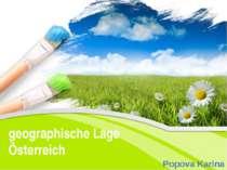 geographische Lage Österreich Popova Karina PowerPoint Template Click to edit...