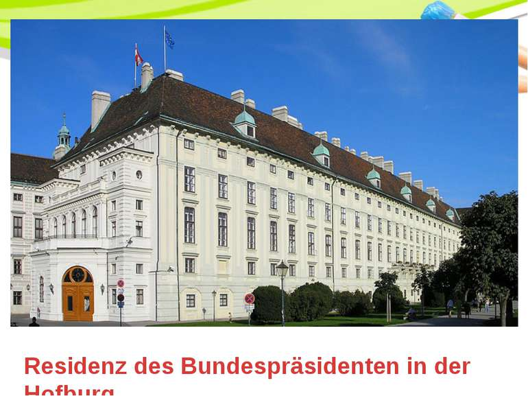 Residenz des Bundespräsidenten in der Hofburg PowerPoint Template