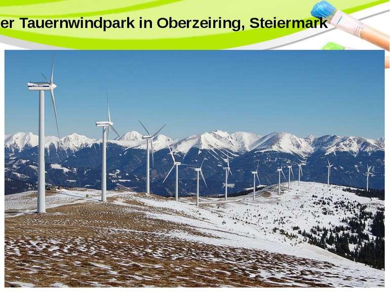 Der Tauernwindpark in Oberzeiring, Steiermark PowerPoint Template