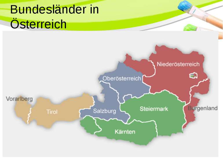 Bundesländer in Österreich PowerPoint Template