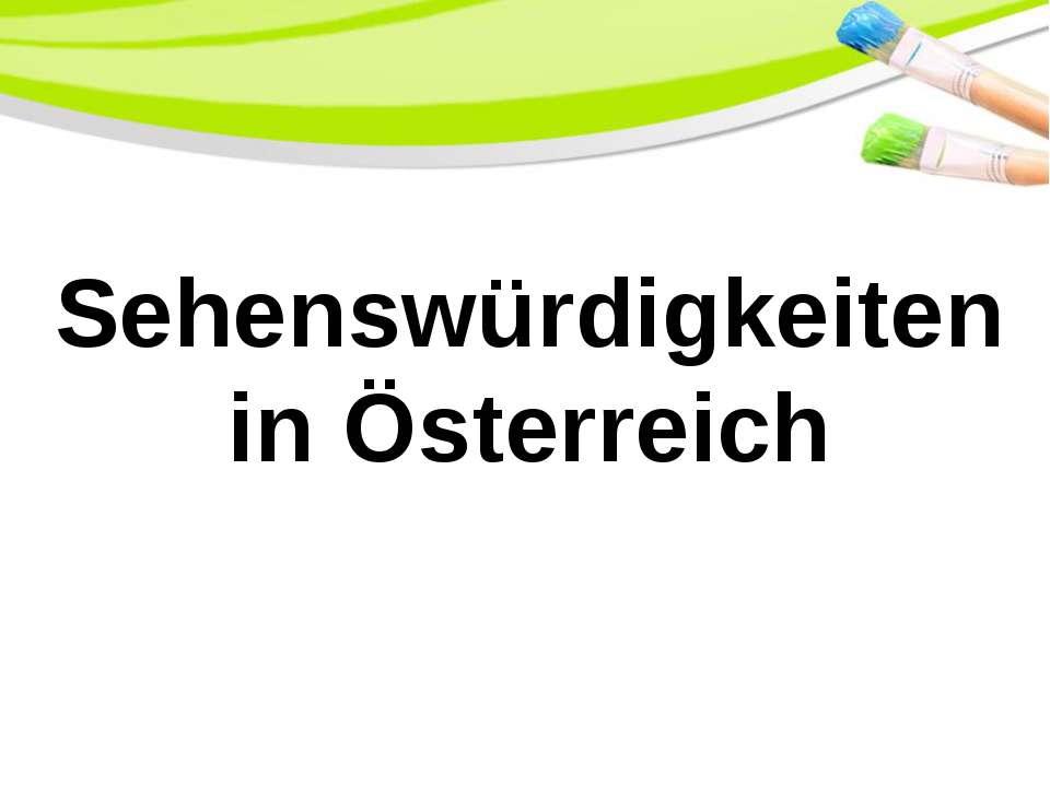 Sehenswürdigkeiten in Österreich PowerPoint Template