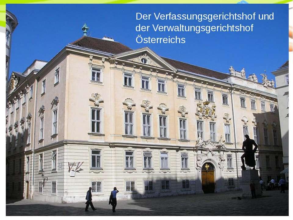 Der Verfassungsgerichtshof und der Verwaltungsgerichtshof Österreichs PowerPo...