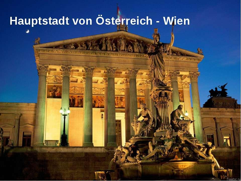 Hauptstadt von Österreich - Wien PowerPoint Template