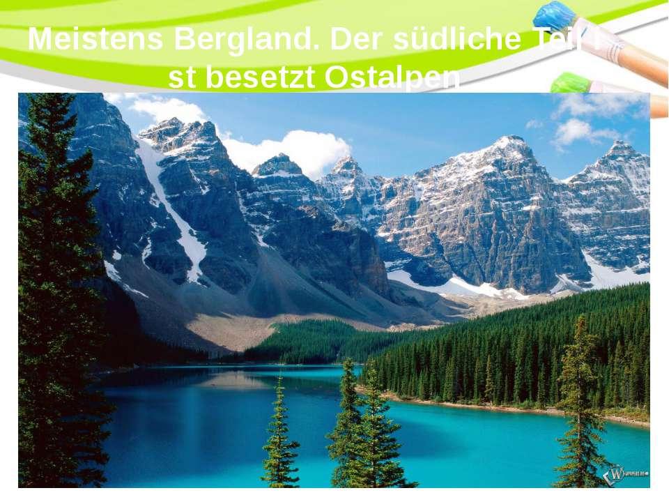 Meistens Bergland. Der südliche Teil ist besetzt Ostalpen PowerPoint Template
