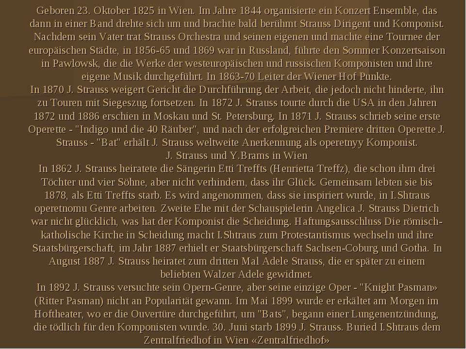 Geboren 23. Oktober 1825 in Wien. Im Jahre 1844 organisierte ein Konzert Ense...