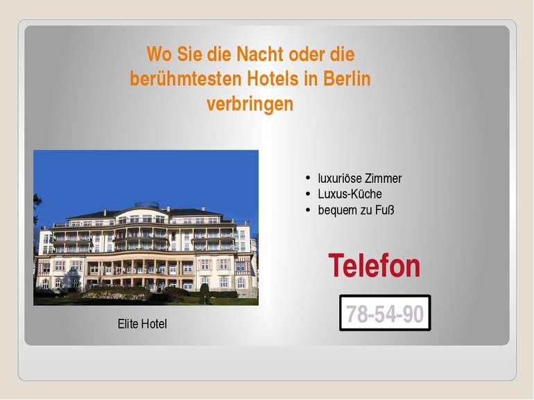 Wo Sie die Nacht oder die berühmtesten Hotels in Berlin verbringen Elite Hote...