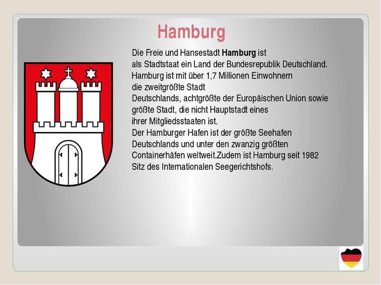 Hamburg DieFreieundHansestadtHamburgist alsStadtstaateinLandderBund...