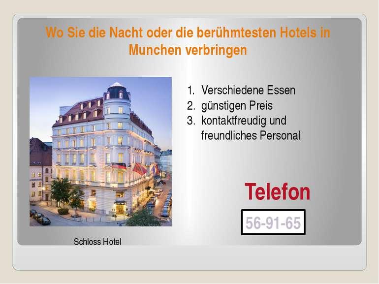 Wo Sie die Nacht oder die berühmtesten Hotels in Munchen verbringen Schloss H...
