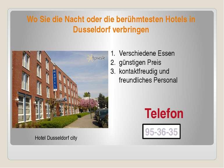 Wo Sie die Nacht oder die berühmtesten Hotels in Dusseldorf verbringen Hotel ...