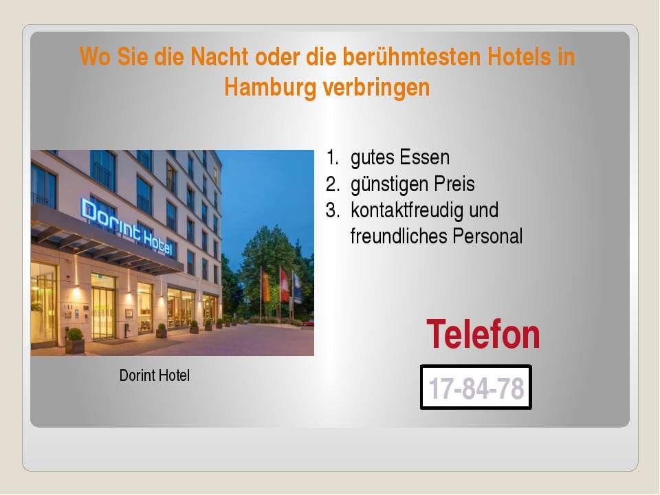 Wo Sie die Nacht oder die berühmtesten Hotels in Hamburg verbringen Dorint Ho...