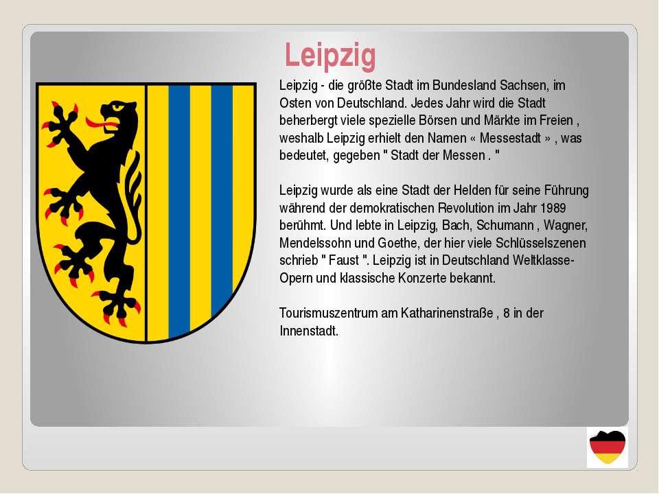 Leipzig Leipzig - die größte Stadt im Bundesland Sachsen, im Osten von Deutsc...