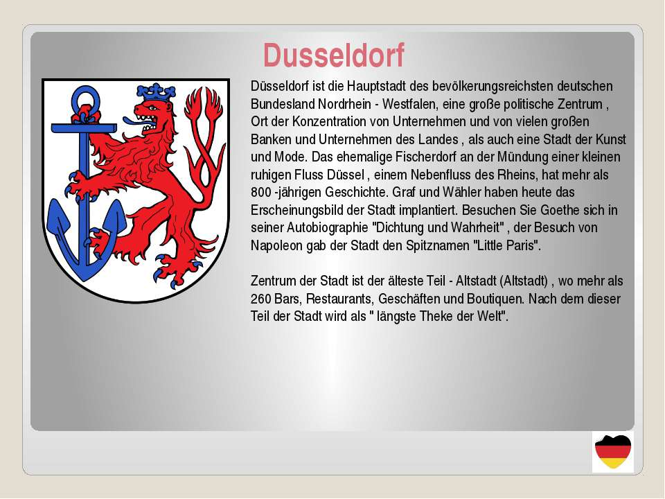 Dusseldorf Düsseldorf ist die Hauptstadt des bevölkerungsreichsten deutschen ...