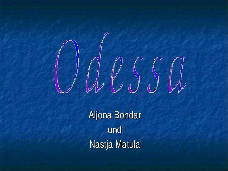 Aljona Bondar und Nastja Matula