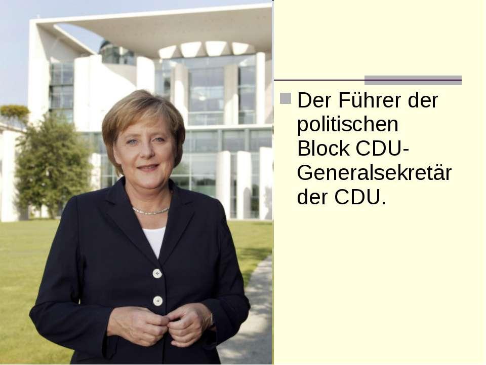 Der Führer der politischen Block CDU-Generalsekretär der CDU.