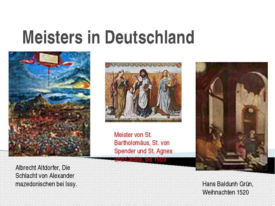 Meisters in Deutschland Albrecht Altdorfer, Die Schlacht von Alexander mazedo...